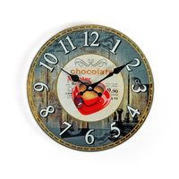 Cortina Only for Love Design Glass Wall Clock, multicolor