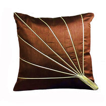 India Furnish Stripe Brown Cushion Covers (Pack Of 5)
