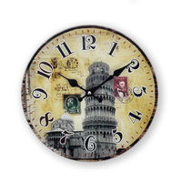 Cortina Post Ticket Designs Glass Wall Clock, multicolor