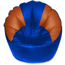 India Furnish Mudda Sofa Bean Bag Cover Blue & Brown Color (Without Beans)