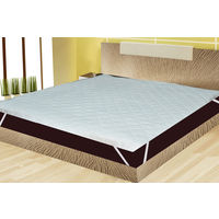 """India Furnish Bed Spread Type Waterproof Mattress Protector With Elastic Band - White, 72"""" x60"""""""
