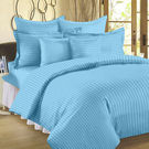 Ahmedabad Cotton Sateen Striped Double Bedsheet SS