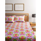 Bombay Dyeing 180 Tc Cotton Ethnic Bedsheet With Two Pillow Cover