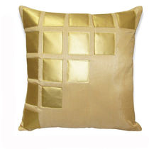 India Furnish Laser Patch Beige Cushion Covers (Pack Of 5)