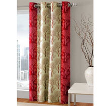 India Furnish Designer Maroon Eyelet Polyester Curtain Door Length (Set of 1 Pcs) 84