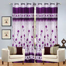 India Furnish Eyelet Polyester Curtain Door Length - Set Of 3 Pcs (IFCUR15034(3) ),  purple