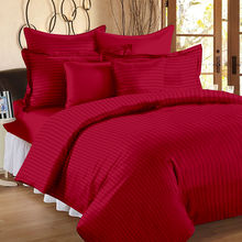 Ahmedabad Cotton Premium Sateen Striped Double Bedsheet SS