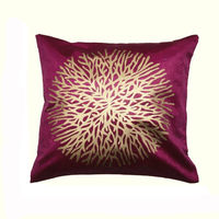 India Furnish Centerflower Purple Cushion Covers (Pack Of 5)