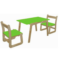 Ginnie & Ginnie Kindelove Study Table & Chair-Green
