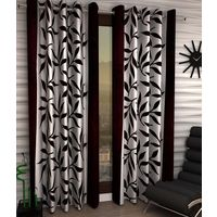 "India Furnish Designer Brown Eyelet Polyester Curtain Long Door Length (Set of 6 Pcs) 108"" x48"""