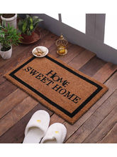 Swhf Premium Coir And Rubber Quirky Design Door And Floor Mat - Home Sweet Home