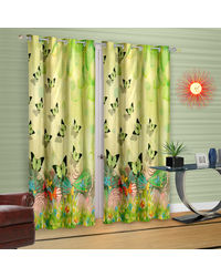 Cortina Butterfly Theme In Garden (DG-R-7FT),  green