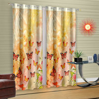 Cortina Butterfly With Sun Light - Set Of 2 (DG-M-7FT-SO2),  orange