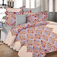 Ahmedabad Cotton Basics Cotton Double Bedsheet With 2 Pillow Covers (ACB20D00078)