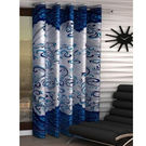 India Furnish Eyelet Polyester Curtain Long Door Length - Set Of 1 Pcs (IFCUR15012La), turquoise