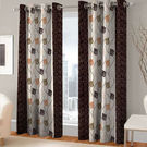 India Furnish Eyelet Polyester Curtain Door Length - Set Of 3 Pcs (IFCUR15011(3) ),  brown