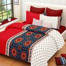 Ahmedabad Cotton Basics Cotton Double Bedsheet With 2 Pillow Covers (ACB20D00037)