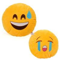 Cortina Cortina Smiley Cushion Set Of 2 (SC-SO2-019),  yellow
