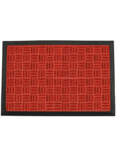 Swhf Premium Pp And Rubber Door And Floor Mat Virgin Rubber And Extremely Durable - Red Criscross