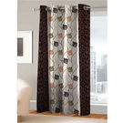 India Furnish Eyelet Polyester Curtain Long Door Length - Set Of 1 Pcs (IFCUR15011La),  brown