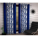 India Furnish Designer Blue Eyelet Polyester Curtain Long Door Length (Set of 4 Pcs) 108