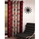 India Furnish Eyelet Polyester Curtain Long Door Length - Set Of 1 Pcs (IFCUR15041La),  maroon