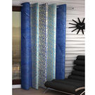 India Furnish Eyelet Polyester Curtain Long Door Length - Set Of 1 Pcs (IFCUR15101La),  blue