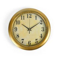 Cortina Round Analog Wall Clock-013,  beige