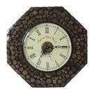 Monogram Decorative Wooden Wall Clock– Natural