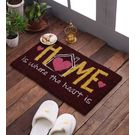 Swhf Premium Coir And Rubber Quirky Design Door And Floor Mat - Home Is Where The Heart Is