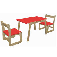 Ginnie & Ginnie Kindelove Study Table & Chair-Red