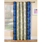 India Furnish Designer Blue Eyelet Polyester Curtain Door Length (Set of 1 Pcs) 84