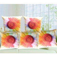 "India Furnish Digital Print Polyester Jute Cushion Covers-Set Of 5, 16"" X16"" , Multicolor"