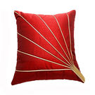 India Furnish Stripe Red Cushion Covers (Pack Of 5)