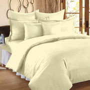Ahmedabad Cotton Premium Sateen Striped King Size Bedsheet SS