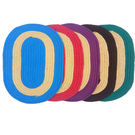 India Furnish Cotton Designer Oval Footmat - Set of 5 (13