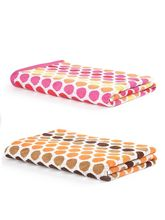 Turkish Bath 100% Pure Double Twisted Cotton 410 Gsm Polka Dot Bath Towel - Brown And Red