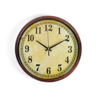 Cortina Round Analog Wall Clock-024,  beige