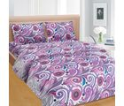 Cortina Cortina Double Bedsheet With Tow Pillow Cover-046-B (PDB-047-B), purple