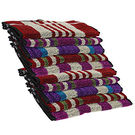 Cozier Enterprises 10pc Hand Towel (HTBL10), multicolor