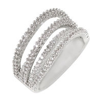 Shaze Silver-Plated 3 Merged Ring