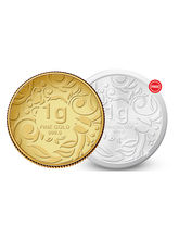 Amrapali Floret Gold Coin With Free Silver Coin, 1 gm