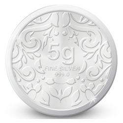 Amrapali Floret Silver Coin, 5 gm