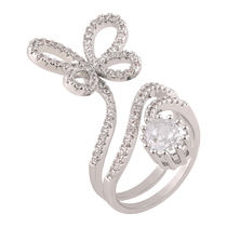 Shaze Silver-Plated Flight Trail Ring