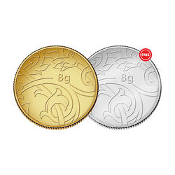 Amrapali Blossom Gold Coin With Free Silver Coin, 8 gm