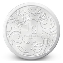 Amrapali Floret Silver Coin, 1 gm