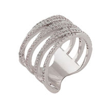 Shaze Silver-Plated Entwined Ring