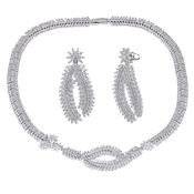 Shaze Silver-Plated Dazzling Mimosa Set