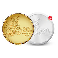 Amrapali Mayura Gold Coin With Free Silver Coin, 20 gm