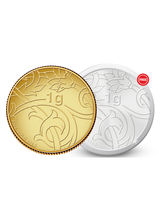 Amrapali Blossom Gold Coin With Free Silver Coin, 1 gm